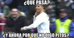 Enlace a Cristiano callando bocas en el Bernabéu