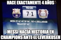 Enlace a El día que Messi humilló al Bayer Leverkusen