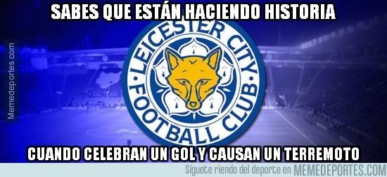 817652 - Un gol del Leicester provocó un pequeño terremoto en los alrededores del estadio