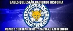 Enlace a Un gol del Leicester provocó un pequeño terremoto en los alrededores del estadio