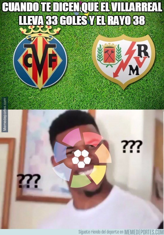 818210 - Cuando te dicen que el Villarreal lleva 33 goles y el Rayo 38