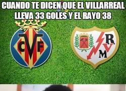 Enlace a Cuando te dicen que el Villarreal lleva 33 goles y el Rayo 38