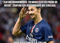 Enlace a Zlatan callando bocas en el Bridge