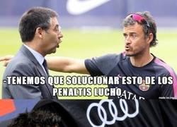 Enlace a Ni con esas mete el Barça los penaltis