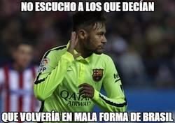 Enlace a No le sientan mal las vacaciones a Neymar