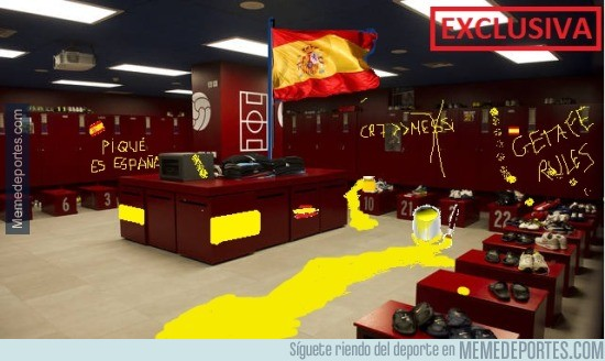 819578 - POLÉMICA: Así ha quedado el vestuario del Getafe en el Camp Nou