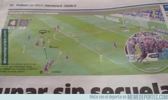 819874 - Cristiano asistiendo a Messi. Simplemente Marca