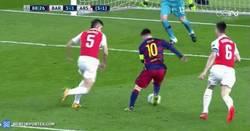 Enlace a GIF: Y Messi hace el tercero en el Camp Nou. ¡El Barça a Cuartos!