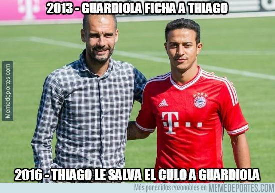 822049 - Thiago le hace un gran favor a Guardiola