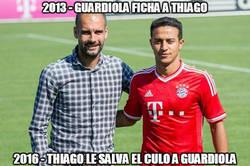 Enlace a Thiago le hace un gran favor a Guardiola