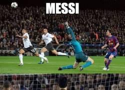 Enlace a Messi y su especialidad frente al Arsenal
