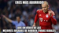 Enlace a Más aburrido que un vídeo de las mejores jugadas de Robben