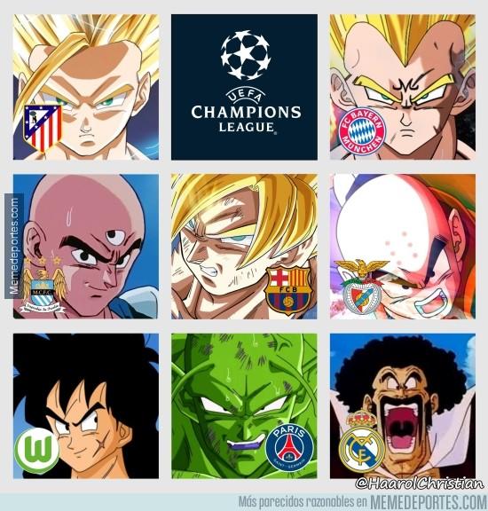 822397 - Los 8 equipos que quedan en el torneo de la Champions League, según Dragon Ball