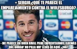 Enlace a + Sergio,¿Qué te parece el emparejamiento contra el Wolfsburgo?