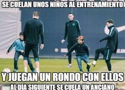Enlace a Grandísimo gesto del Barça en los entrenamientos