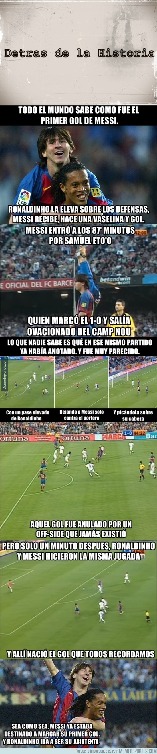823880 - La historia del primer gol de Messi