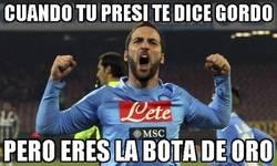 Enlace a Higuaín callándole la boca al Presidente del Napoli