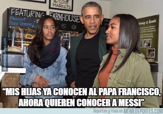 825963 - Messi, al nivel del Papa para los Obama