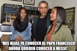 Enlace a Messi, al nivel del Papa para los Obama