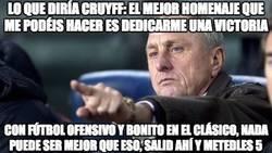 Enlace a Lo que diría Cruyff al Barcelona