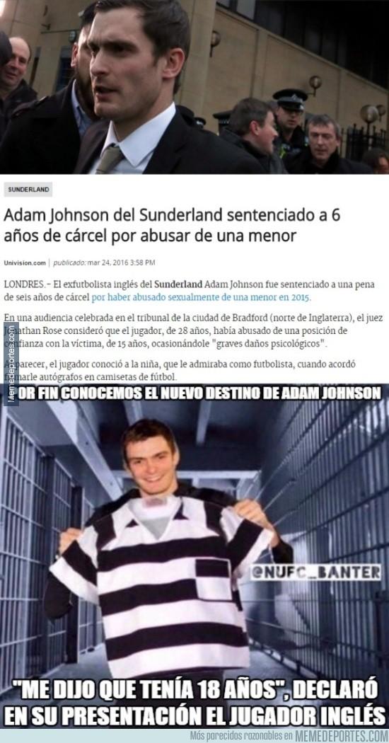 826737 - Adam Johnson es condenado a seis años de cárcel