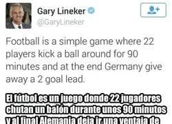 Enlace a Gary Lineker rehizo su famosa frase después de la victoria de Inglaterra