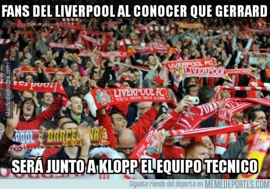 827692 - The Sun: Gerrard, ¿ayudante de Klopp en el Liverpool?