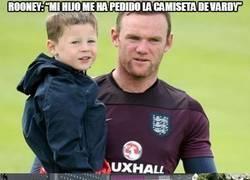 """Enlace a Rooney: """"Mi hijo me ha pedido la camiseta de Vardy"""""""