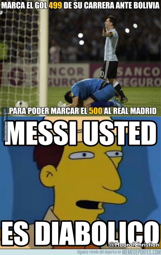 828691 - Messi a punto de marcar el gol 500 de su carrera