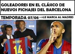 Enlace a Cuando el Barça compra jugadores, al menos uno le marca al Madrid en la temporada