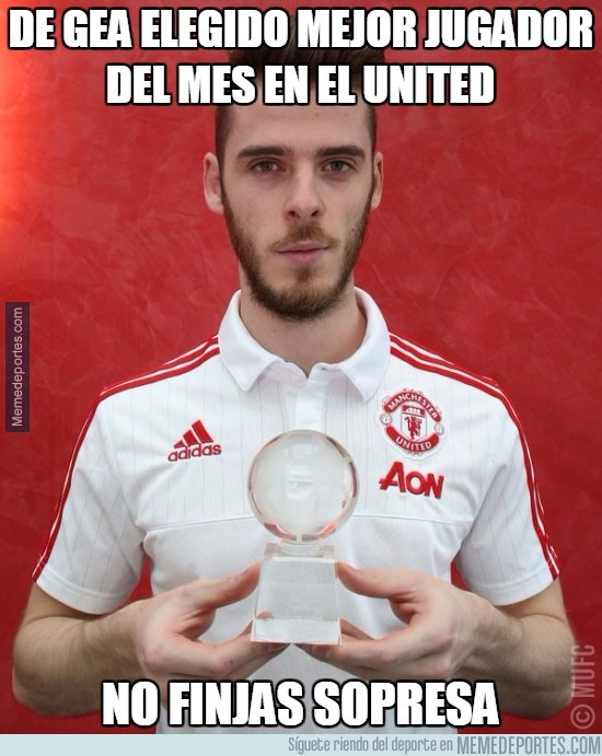 829331 - De Gea elegido mejor jugador del mes en el United