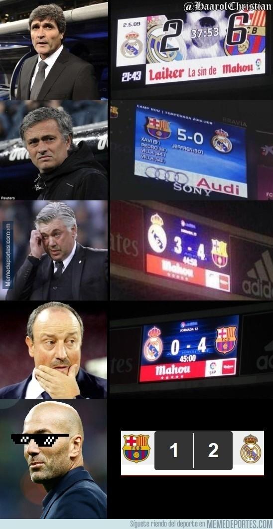 830282 - Zidane da la vuelta a la tendencia del primer partido de los Barça-Madrid