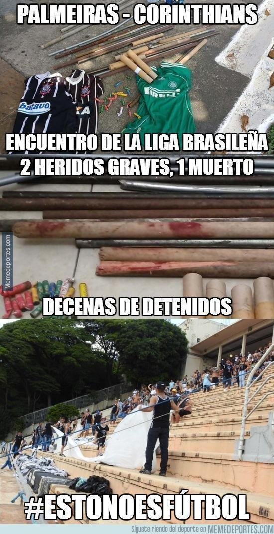 831379 - Lamentables incidentes en el Palmeiras - Corinthians