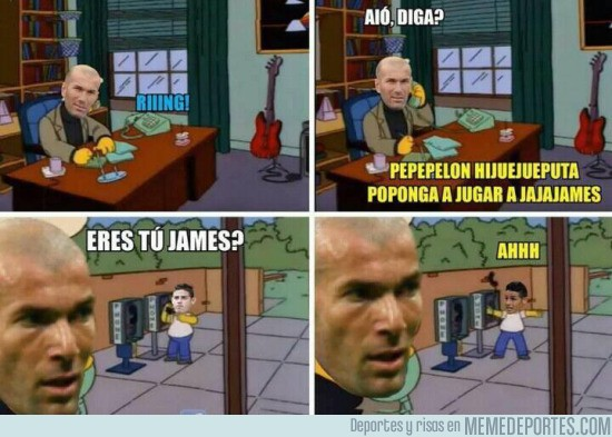 831734 - Zidane se ha olvidado de James