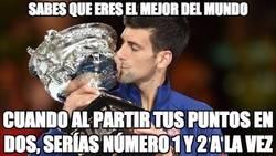 Enlace a Djokovic va muy sobrado actualmente