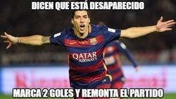 Enlace a Suárez salvando al Barça del desastre
