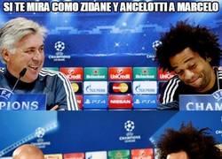Enlace a Si te mira como Zidane y Ancelotti a Marcelo