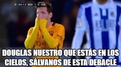 Enlace a Messi rezando en Anoeta