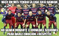 Enlace a El Barça pone emoción a la Liga