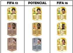 Enlace a Jugadores del FIFA 12 y su potencial, cómo han cambiado muchos jugadores