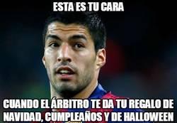 Enlace a Suárez jugando de gratis la Champions