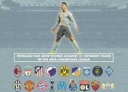 Enlace a Brutal: Cristiano ya ha marcado a 31 equipos diferentes en Champions