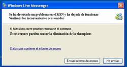 Enlace a Fallo en el MSN