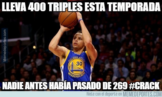 838375 - ¡¡¡Pero qué salvajada!!! ¡¡¡400 triples en una temporada regular!!!