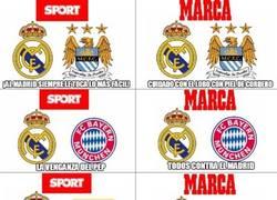 Enlace a Titulares de Sport y Marca para las semis de Champions
