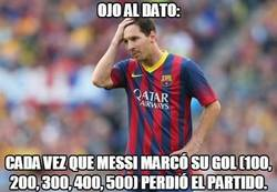 Enlace a Impresionante dato de Messi