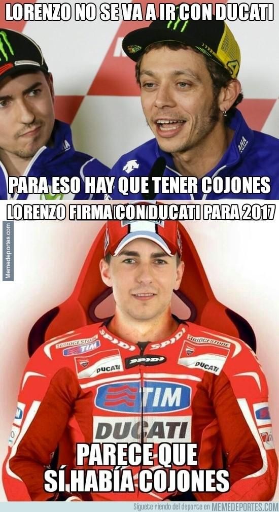 842169 - Lorenzo le ha callado la boca a Rossi
