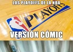 Enlace a Los Playoffs de la Nba en versión cómic