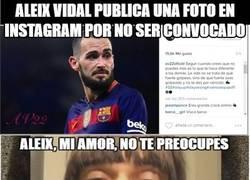 Enlace a Aleix Vidal y su mensaje en Instagram