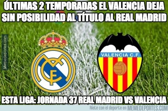 842789 - ultimas 2 temporadas el valencia deja sin posibilidad al titulo al Real Madrid